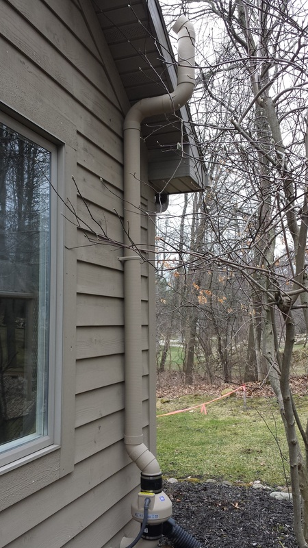 Painted Radon Mitigation System installed by our certified professionals